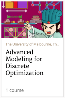 advanced modeling for discrete optimization course banner