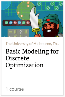 basic modeling for discrete optimization course banner