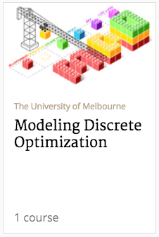 modeling and discrete optimization course banner